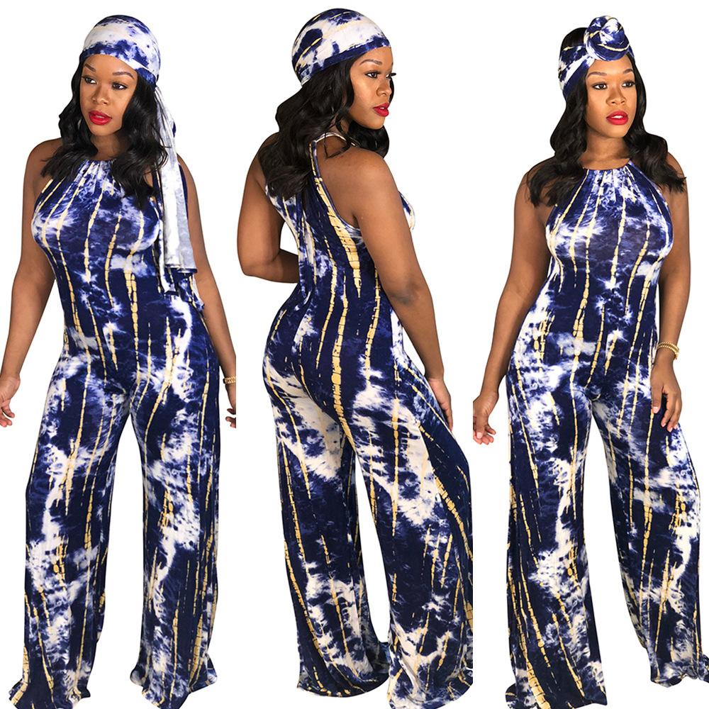 Sold Out! 2019 Hot Selling Europe And America-Slim Fit Bandage Cloth Tie-dye Camisole Onesie S1027