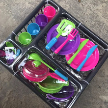 Toy Utensils-Toys Simulation Kitchen Cookware-Pot Kids Pretend Mini Children Gift 28pcs