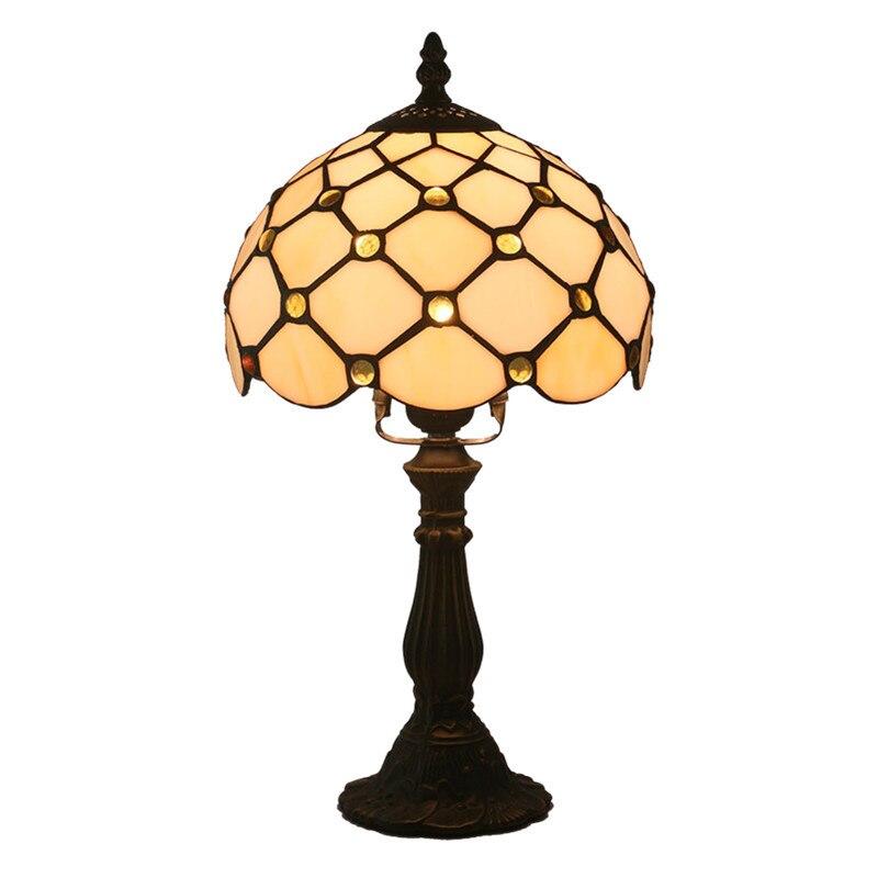 tiffany vidro da lampada quarto lampada lampada de cabeceira lampada bar retro amarelo resina candeeiro de