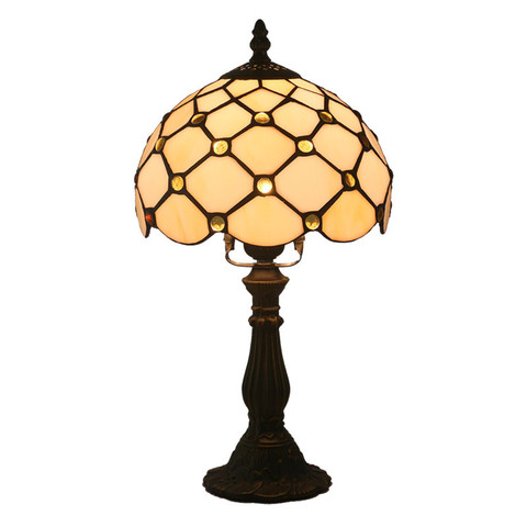 tiffany vidro da lampada quarto lampada lampada de cabeceira lampada bar retro amarelo resina candeeiro
