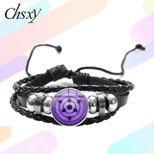 Bracelet Jewelry Snap-Button Eye-Braided Sharingan Glass-Art CHSXY Itachi Kakashi Sasuke