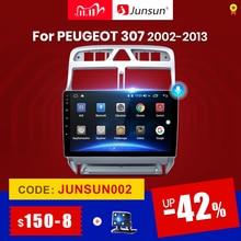 Junsun V1 4G + 64G CarPlay Android 10 DSPสำหรับPEUGEOT 307 Sw 307 2002 2013วิทยุเครื่องเล่นวิดีโอมัลติมีเดียGPS RDS 2 Din Dvd