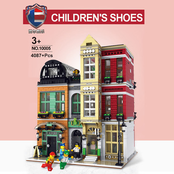 City Street Series MOC Creator Expert Shoes Shop Compatible with Lepining Bricks Model Building Blocks Toys For Children Gifts 2294pcs moc series the old finishing store children educational model building blocks bricks toys for kids compatible legoings