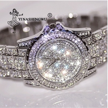 Hot Sale 2015 New Designer Famous Brand Women Rhinestone Watches Gold Color Wome