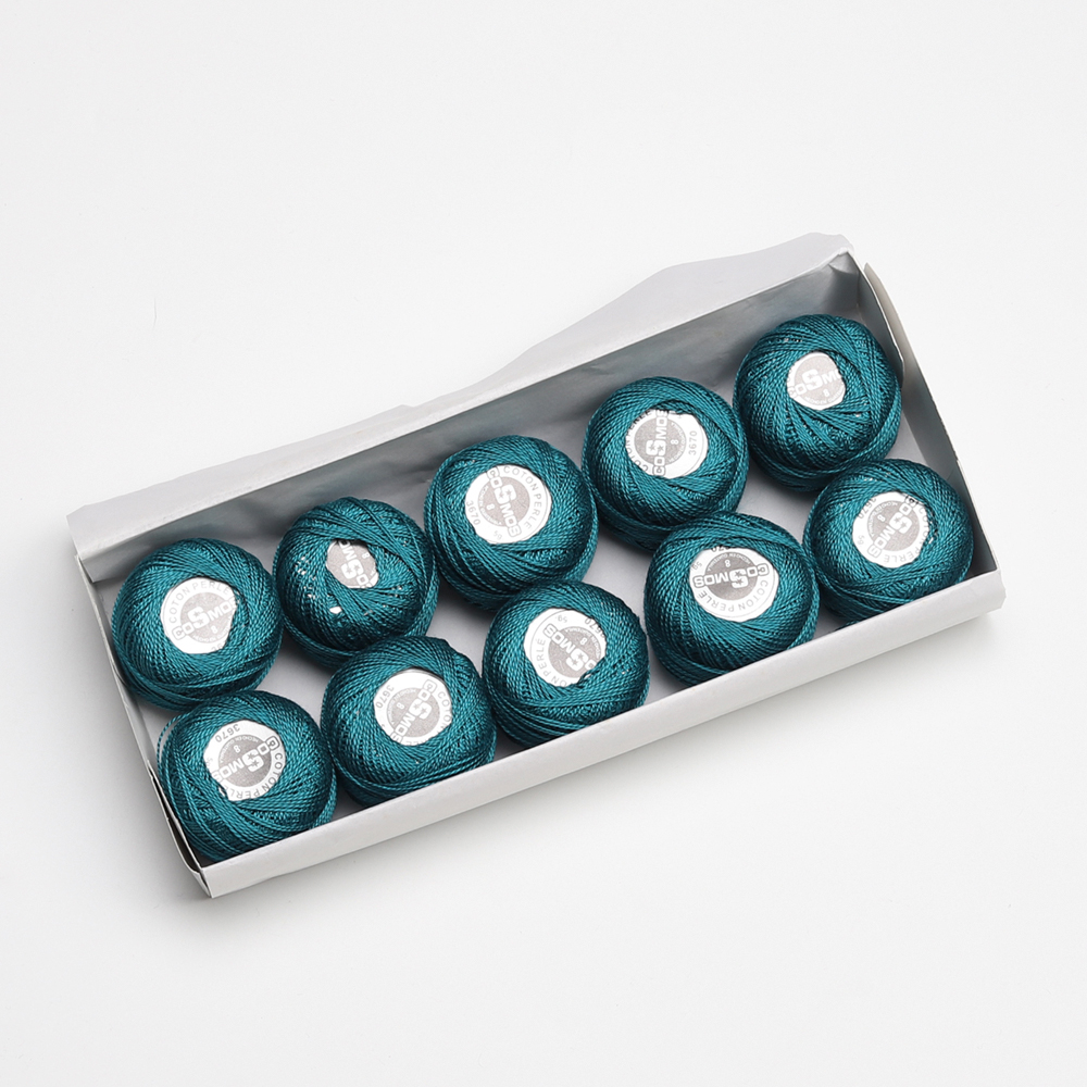 5 граммов размер, 8 жемчужных хлопковых нитей для вышивки крестиком, 43 ярдов на шарик, Двойной Мерсеризованный длинный штапельный хлопок, 10 шт./col - Цвет: 3670