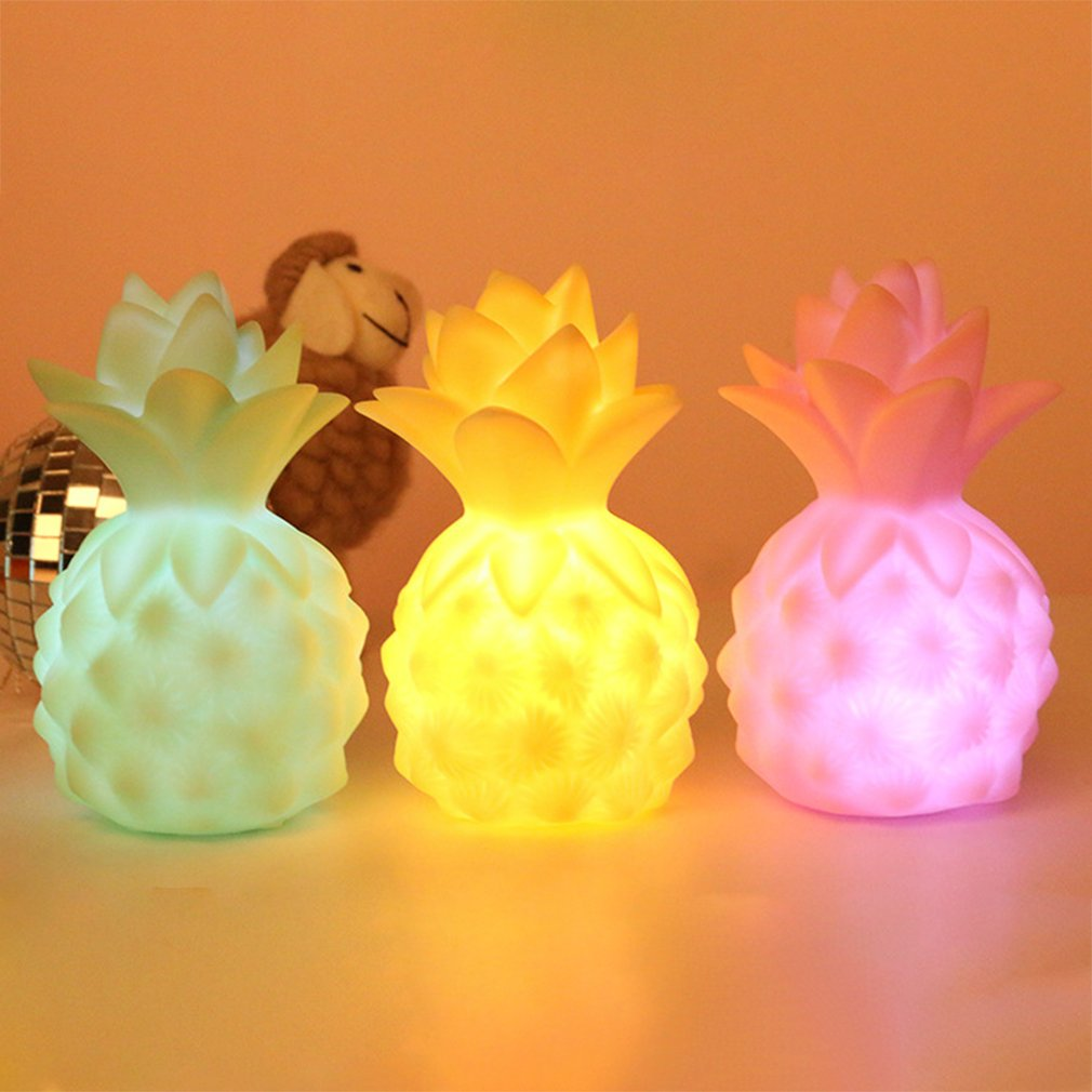 Led Night Light Girl Heart Room Pineapple Ornaments Creative Night Feeding Milk Gel Bedside Lamp Professional