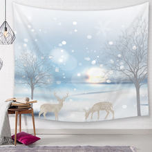 Nordic Зимний Рождественский абстрактный Лось гобелен настенный