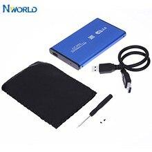 Novo 2.5 Polegada notebook sata hdd caso para sata usb 3.0 ssd hd, disco rígido, caixa de armazenamento externo com cabo usb 3.0,