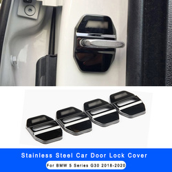 4 sztuk ze stali nierdzewnej ochrona na zamek do drzwi samochodu pokrowiec na BMW serii 5 G30 2018-2020 X3 G01 Car Styling wyposażenie wnętrz