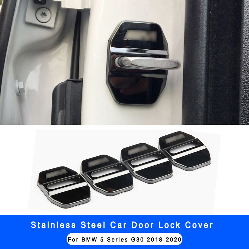 4pcs Stainless Steel Car Door Lock Protective Cover For BMW 5 Series G30 2018-2020 X3 G01 Car Styling Interior Accessories