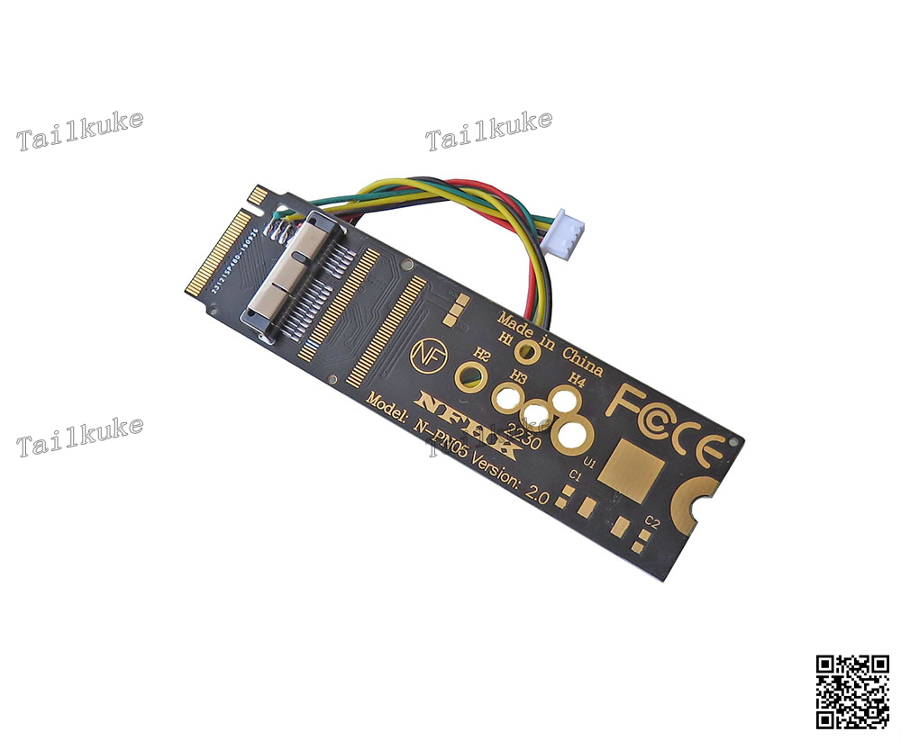 Black BCM94360CS2 Network Card to M Key PCIe X4 M.2 NGFF Adapter Card Dedicated to NUC8(China)