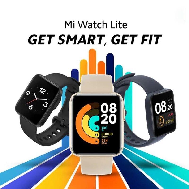Mi Watch Lite глобальная версия GPS фитнес-трекер монитор сердечного ритма спортивный браслет 1,4 дюйма Bluetooth 5,0 умные часы-1