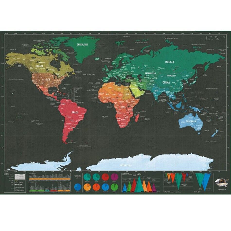 42,3*30 см стирается карта мира путешествия Скретч Карта мира путешествия царапины для карты комнаты дома наклейки на стену в офис