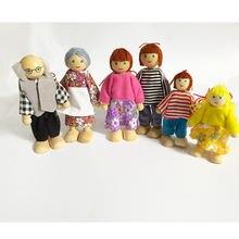 Семейные куклы 7 деревянных кукол развивающие игрушки для младенцев