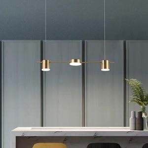 Image 4 - הפוסטמודרנית זהב או שחור LED נברשת אוכל חדר ארוך תליון מנורת נורדי בר קפה חנות בית דקו תאורה תליית גופי