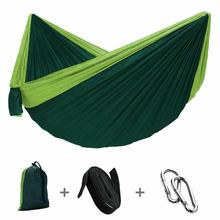 C2-Single Double Hammock Adult Camping Outdoor Backpack Travel Survival Garden Swing Hunting Sleeping Bed Portable Belt 2 Belt 2