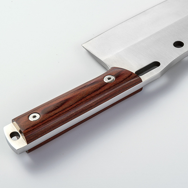 Shuoji Outdoor Chef Knife Camping Hunting Survival Knife Pocket Stainless Steel Kitchen Knives Fixed 5Cr15mov Blade Belt Sheath 3