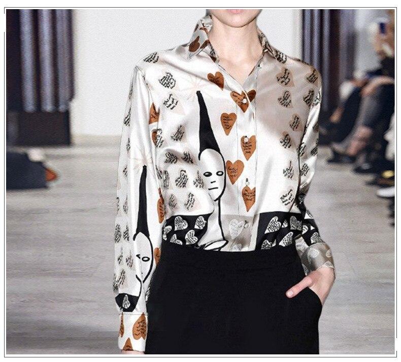 silk shirt temperament Fairy Print  4