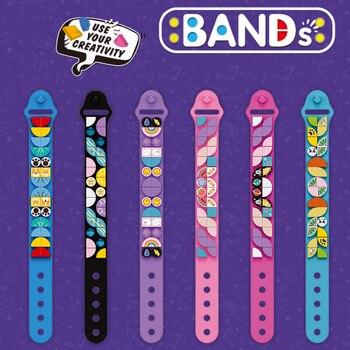 6 PCS/Lot Soft Rubber Dots Series Kids Bracelet Kit with DIY Building Blocks Bricks Funny Jewelry Toys For Girls Boys