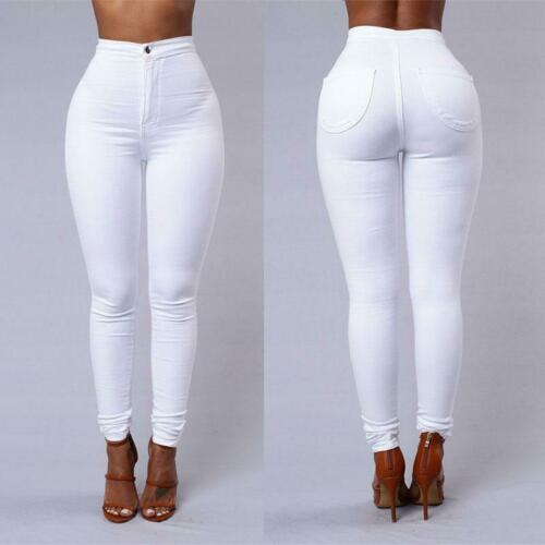 Womens Fashion Solid Leggings Sexy Fitness High Waist Legging Pencil Trousers Female Trousers  White Black Blue Pants