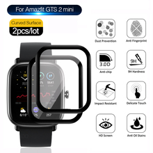 10D منحني حافة لينة الألياف الزجاجية ل Huami Amazfit GTS 2 / 2e / 2 mini واقي للشاشة طبقة رقيقة واقية ساعة ذكية اكسسوارات