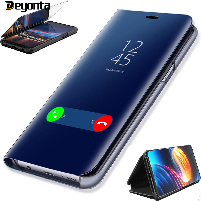 Deyonta Smart Mirror Flip Phone Case For iPhone X XS XR 6 6S 7 8 Plus Case Clear View Cover For iPhone XS Max SE 2020 Covers