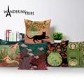 Портретный мультяшный чехол для подушки, украшение для красивой девушки, чехол для подушки, чехол для s, кошки, льняные домашние предметы, че...