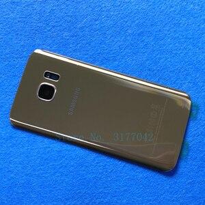 Image 4 - S7 삼성 갤럭시 S7 가장자리 용 배터리 커버 하우징 G935 G935F G935FD S7 G930 G930F G930FD 후면 유리 케이스