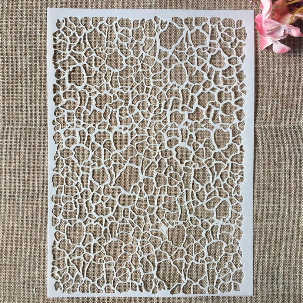 29cm A4 Irregular Mosaic Texture DIY Layering Stencils Wall Painting Scrapbook Coloring Embossing Album Decorative Template