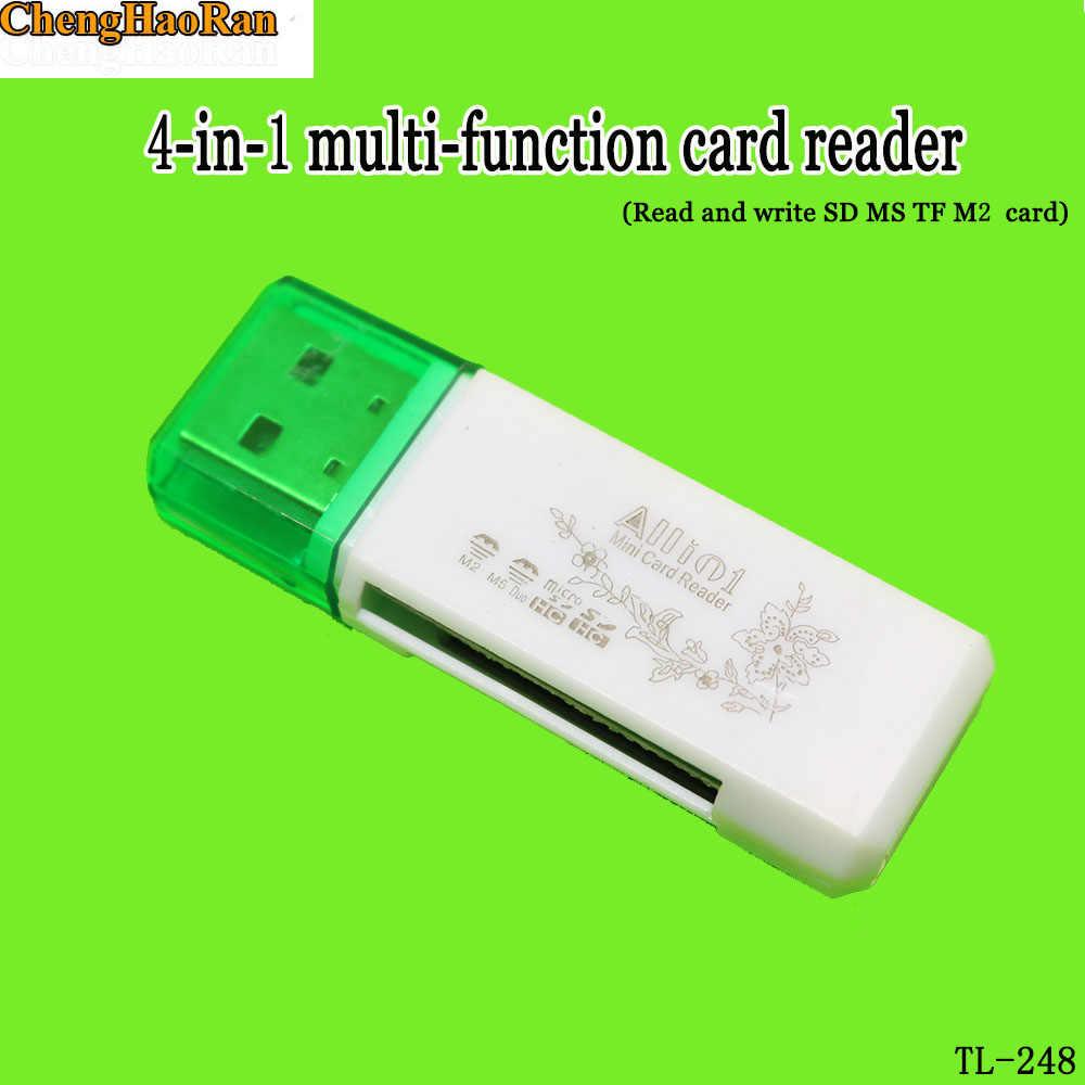 ChengHaoRan USB 4 في 1 متعددة قارئ بطاقات عالية السرعة 2.0 مباشرة القراءة ل SD MS TF m2 بطاقة لأجهزة الكمبيوتر المحمول أجهزة الكمبيوتر المكتبية