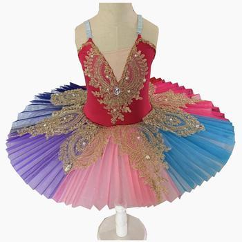 Dance Costume Real 2020 New Adult Professional Ballet Tutus For Kids Swan Lake Dress Pancake Tutu Leotard Clothing For  недорого