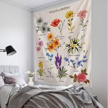Świeże małe kwiaty drukowanie duża ściana zamontowana tanie ściana hipisowska wiszące czeski gobelin ścienny mandala na ścianę artystyczna dekoracja tanie tanio XIANYUNHE forest flower Each Pranie ręczne Można prać w pralce XYH20115 Floral PRINTED Zwykły Tkane rectangle 100 poliester