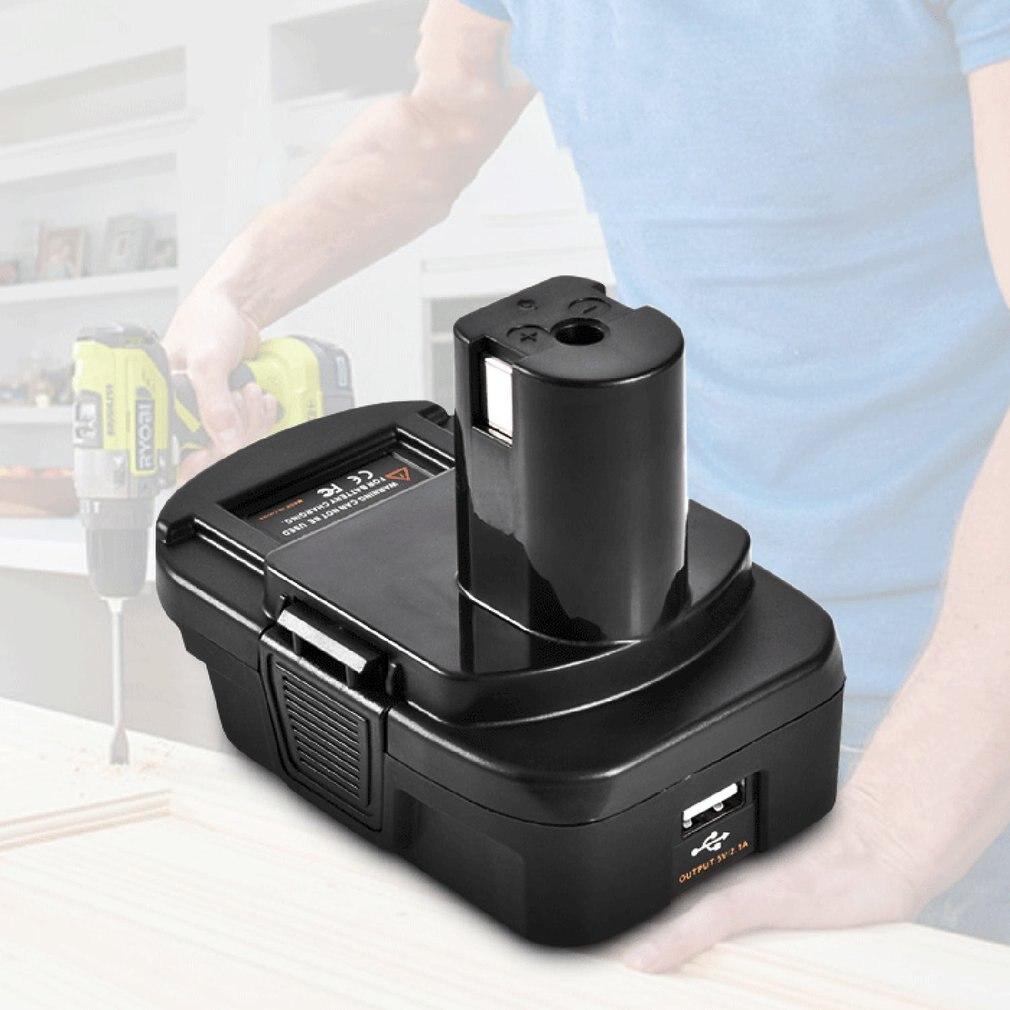 lowest price DM18RL Battery Converter Adapter USB DM20ROB For RYOBI Convert DEWALT 20V Milwaukee M18 to 18V  Battery Adapter