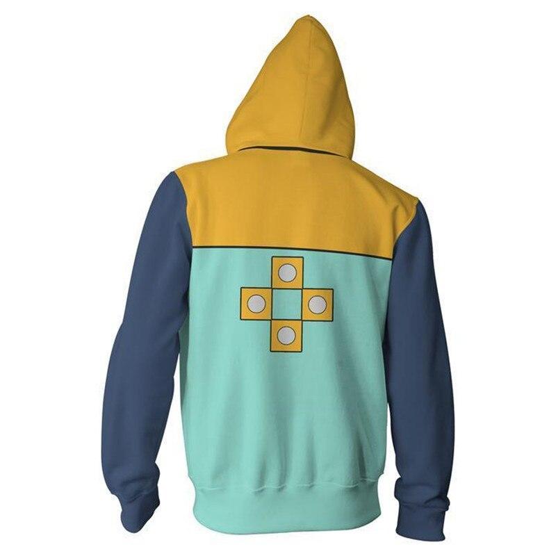 New Style Seven Deadly Sins Nie Men's Sweatshirts & Hoodies-King Zipper Hooded Sweatshirt 3D Digital Printing Hoodie Men's