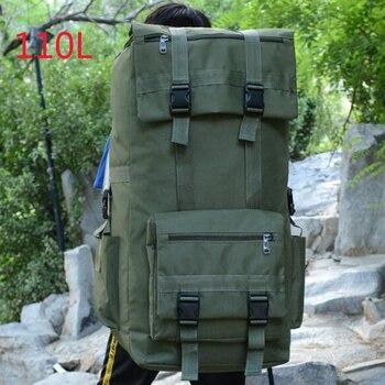 цена на 110L Large Capacity Men's Military Tactical Backpack Army Bag Outdoor Trekking Hiking Camping Travel Bag Rucksack