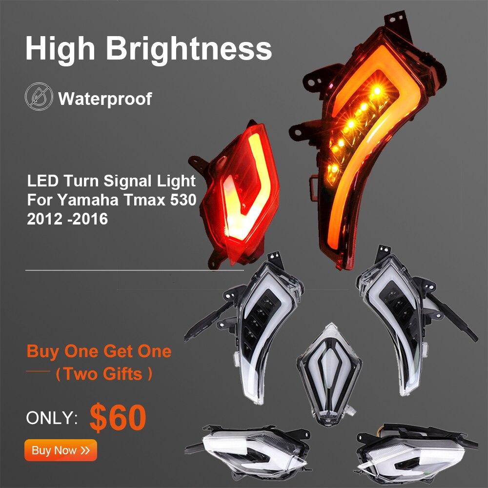 For TMAX 530 Light LED Turn Signal Light For YAMAHA T-Max T Max Tmax 530 TMax530 2012 2013 2014 2015 2016 Rear Tail Brake Lamp