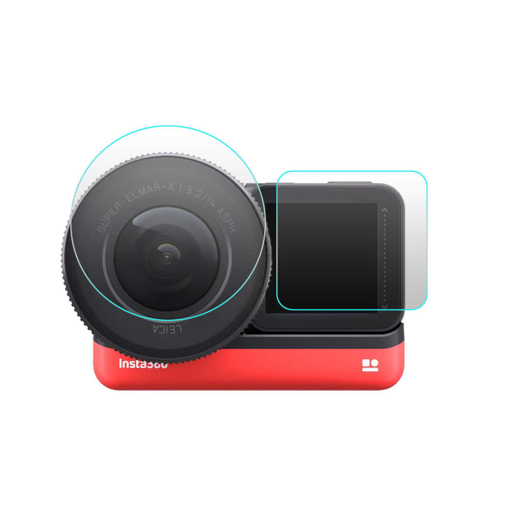 Yeni 2 adet ekran filmi + 2 adet Leica 1 inç geniş açı Lens filmi Insta360 bir R