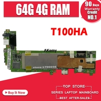 T100ha placa-mãe 4g ram 64g ssd para asus t100h t100ha t100hn t100han portátil placa-mãe t100ha teste 100% ok