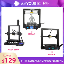 جديد 2020 طابعة Anycubic Mega Series ثلاثية الأبعاد ميجا S/ميجا X/ميجا برو/ميجا زيرو شاشة كاملة معدنية تعمل باللمس طابعة دروكاركا ثلاثية الأبعاد ثلاثية الأبعاد Drucker