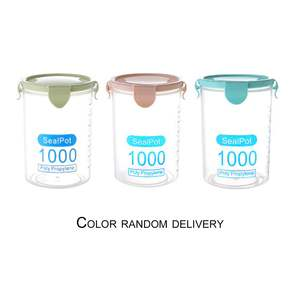 Storage-Jars Safe Sealed Practical Non-Toxic Plastic Household Leakproof 1000ML 3pcs