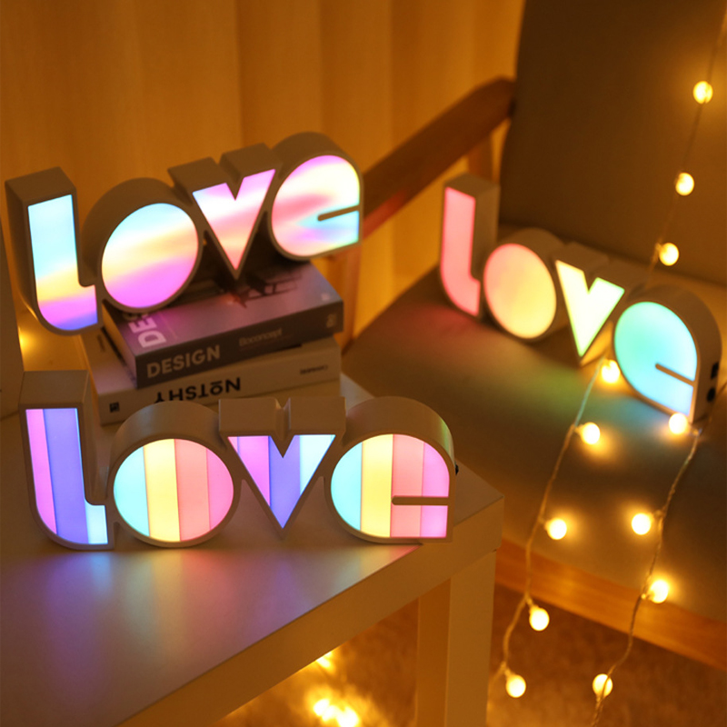 LED LOVE Light Wedding Decoration Table Bride To Be Decoration Party Wedding Bride To Be Valentines Day Party Supplies Letter