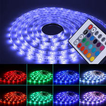 LED Light Strip 5M RGB SMD2835 Flexible Ribbon Waterproof Tapes DC12V Remote Control Lights for RoomRGB Led