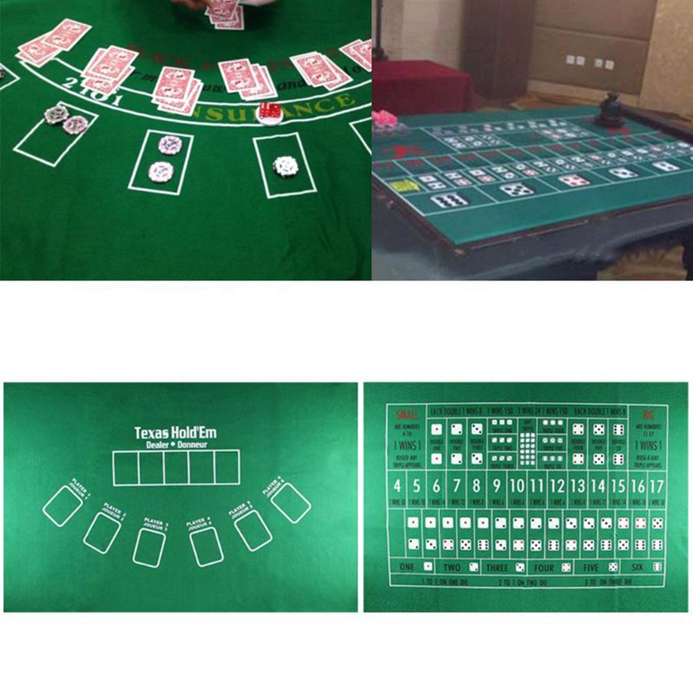 90x60 см TX холдем скатерть фланелевая 21 точка игральные кости Настольный коврик для казино семейвечерние Покер игры развлекательные игрушки настольные игры-5