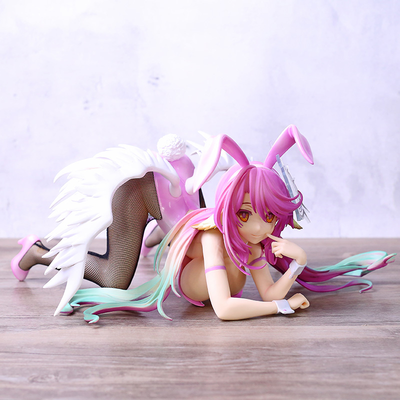 New No Game No Life Jibril <font><b>Bunny</b></font> Ver. <font><b>1/4</b></font> <font><b>Scale</b></font> PVC Action <font><b>Figure</b></font> Anime <font><b>Figure</b></font> Model Toys <font><b>Sexy</b></font> Girl <font><b>Figure</b></font> Collection Doll Gift image