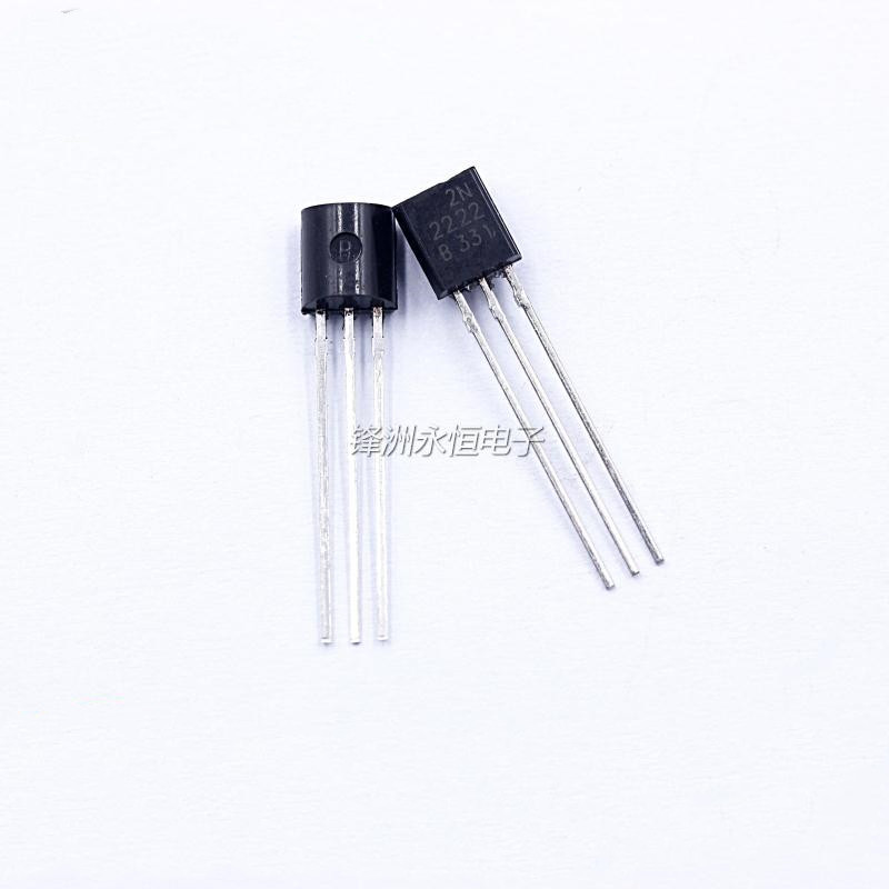 100pcs New 2N2222 TO92 0.6A/30V In-line Triode