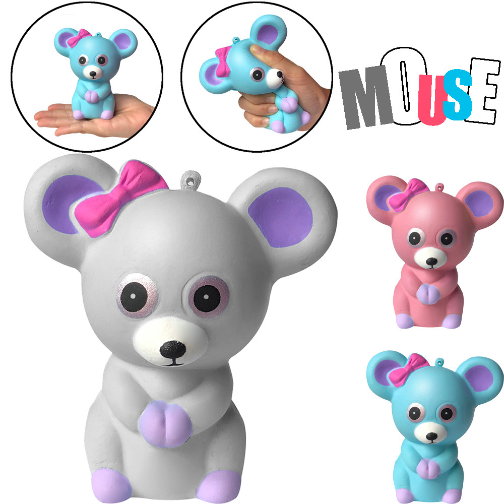 Stress Reliever Cartoon Animal Toy Squishies Adorable Mouse Slow Rising Cream Squeeze Scented Stress Relief Toys  L113