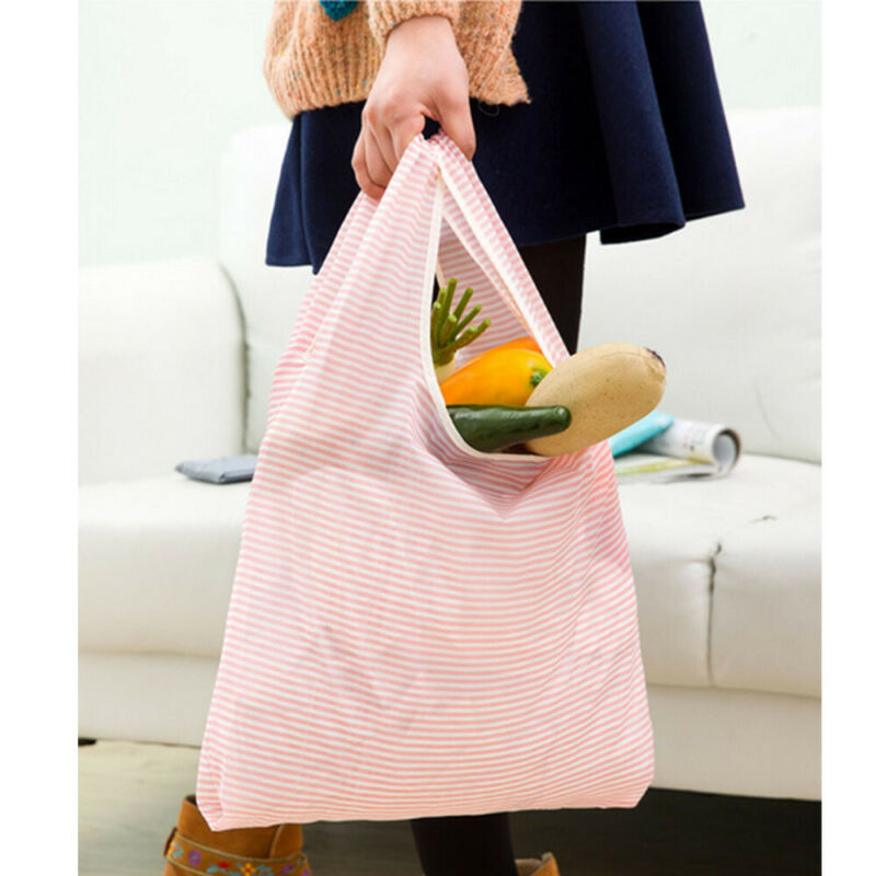 Women Large Heavy Duty Classic Cotton Oxford Shopping Bag Shop Tote Reusable Supermarket Tote