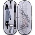 1 Набор  портативный школьный математический геометрический набор  транспортир  рисунок  компас  линейка  карандаш  набор инструментов для о...