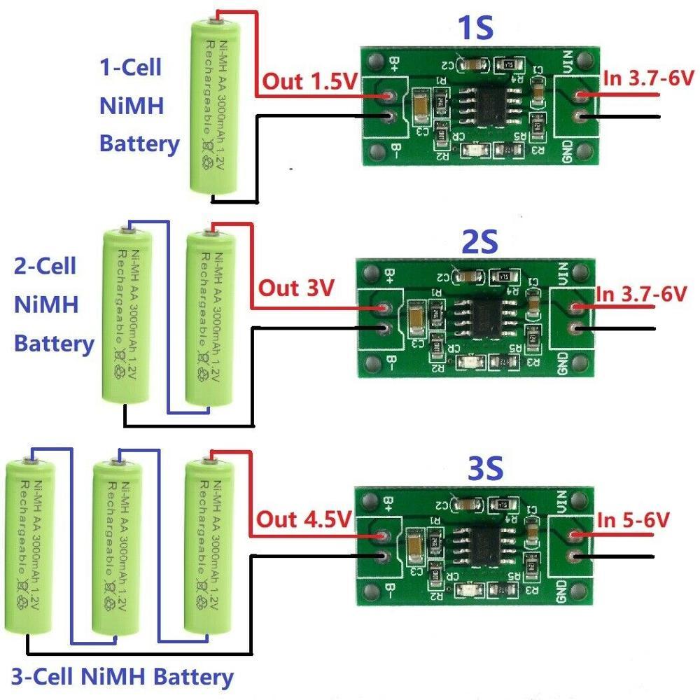 DYKB 1S 2S 3S CELL 1A NiMH Rechargeable Battery Smart Charger Module  Charging Voltage 1.5V 3V 4.5V 5V Input  3.7V-6V 5V 4.2V