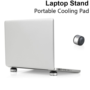 Laptop Stand Portable Aluminum Cooling Pad For MacBook Universal Laptop Notebook cooling pad base Skidproof Pad stand wiwu folding portable laptop stand 11 17 3 inch notebook universal stand for macbook aluminum adjustable cooling support laptops